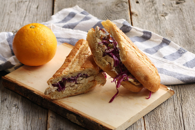 Chicken Sandwich with Fennel Citrus Slaw