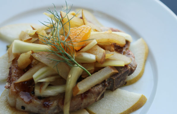 pork chops with fennel and asian pears